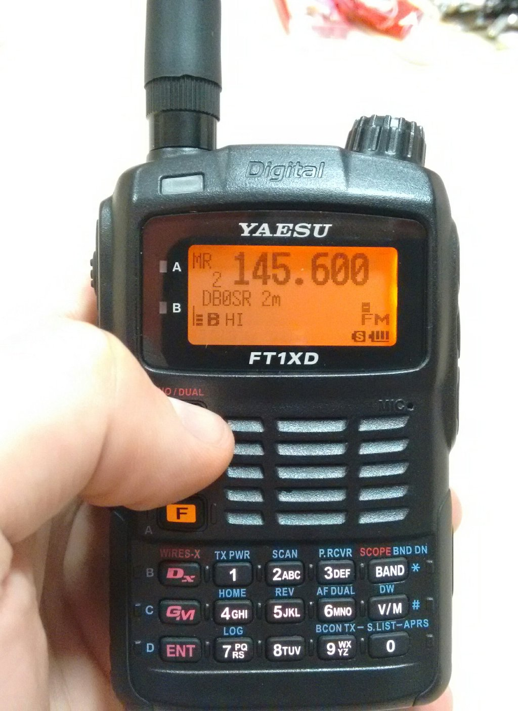 Yaesu FT-1XD beim Test in Quierschied