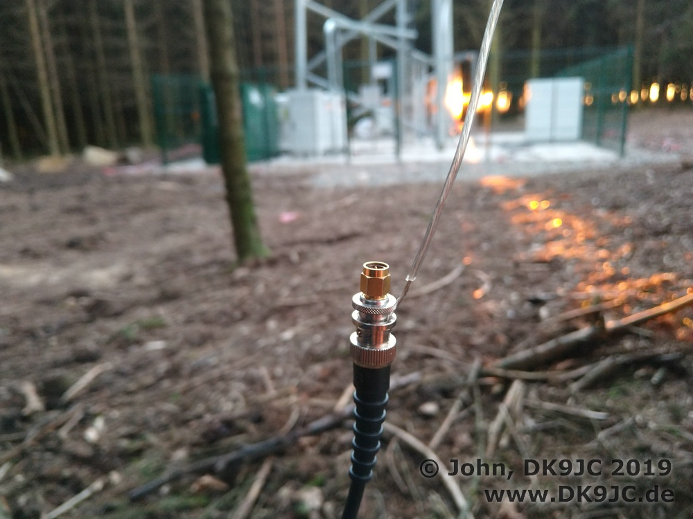 Improvised 20m antenna